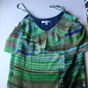 CAbi camisole with large ruffle around front